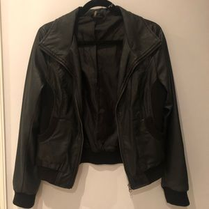 Sparkle & Fade Faux Leather Jacket